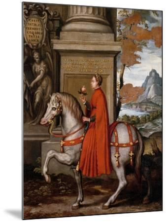 Mathild of Canossa on Horseback-Orazio Farinati-Mounted Giclee Print