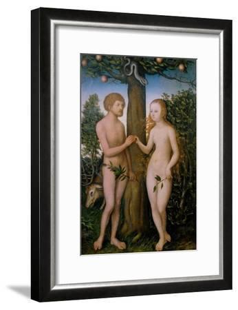 Adam and Eve, 1530-Lucas Cranach the Elder-Framed Giclee Print