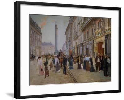 The Exit of the Tailors from the Maison Paquin at Rue De La Paix-Jean B?raud-Framed Giclee Print