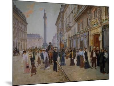 The Exit of the Tailors from the Maison Paquin at Rue De La Paix-Jean B?raud-Mounted Giclee Print