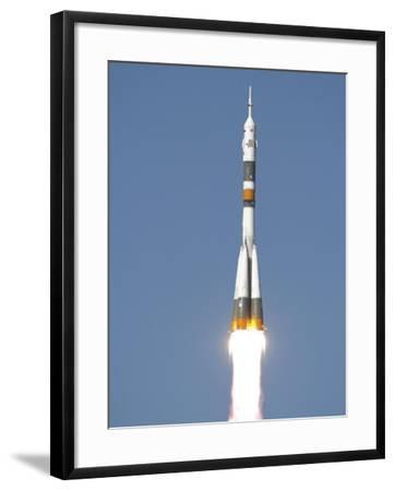 Soyuz TMA-12 Spacecraft Lifts Off into a Cloudless Sky-Stocktrek Images-Framed Photographic Print