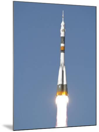 Soyuz TMA-12 Spacecraft Lifts Off into a Cloudless Sky-Stocktrek Images-Mounted Photographic Print