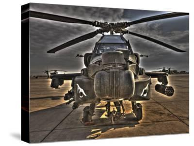 Seven Exposure HDR Image of an AH-64D Apache Helicopter as it Sits on its Pad-Stocktrek Images-Stretched Canvas Print