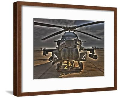 Seven Exposure HDR Image of an AH-64D Apache Helicopter as it Sits on its Pad-Stocktrek Images-Framed Photographic Print