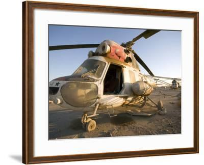Iraqi Helicopter Sits on the Flight Deck Abandoned at Camp Warhorse-Stocktrek Images-Framed Photographic Print