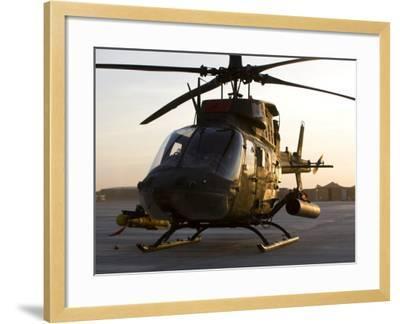 OH-58D Kiowa During Sunset-Stocktrek Images-Framed Photographic Print
