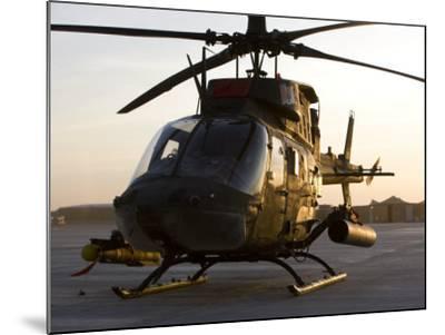 OH-58D Kiowa During Sunset-Stocktrek Images-Mounted Photographic Print