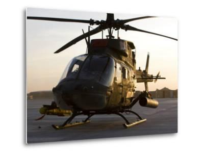 OH-58D Kiowa During Sunset-Stocktrek Images-Metal Print