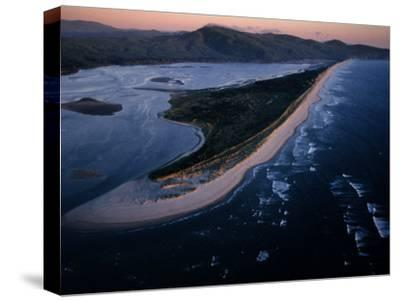 Aerial View of Tillamook Spit, Oceanside, Oregon-Randy Olson-Stretched Canvas Print