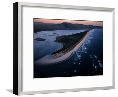 Aerial View of Tillamook Spit, Oceanside, Oregon-Randy Olson-Framed Photographic Print