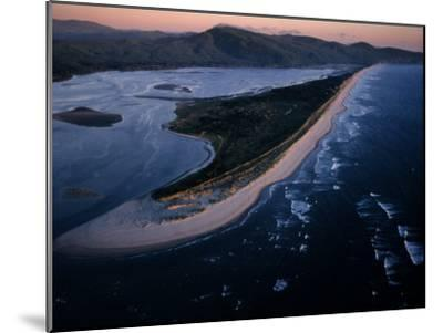 Aerial View of Tillamook Spit, Oceanside, Oregon-Randy Olson-Mounted Photographic Print