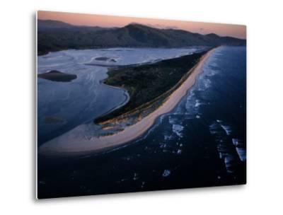Aerial View of Tillamook Spit, Oceanside, Oregon-Randy Olson-Metal Print
