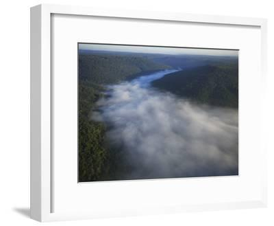 Mist Rises from the Gorge of Lost Cove, Lost Cove, Sewanee, Tennessee, USA-Stephen Alvarez-Framed Photographic Print