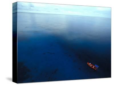 Phoenix Islands, Zodiac in the South Pacific, Zodiac on the The South Pacific, Phoenix Islands-Nick Norman-Stretched Canvas Print