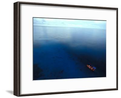 Phoenix Islands, Zodiac in the South Pacific, Zodiac on the The South Pacific, Phoenix Islands-Nick Norman-Framed Photographic Print