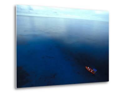Phoenix Islands, Zodiac in the South Pacific, Zodiac on the The South Pacific, Phoenix Islands-Nick Norman-Metal Print