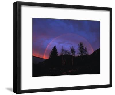 Rainbow over Trees, Northwest Territories, Canada-Nick Norman-Framed Photographic Print