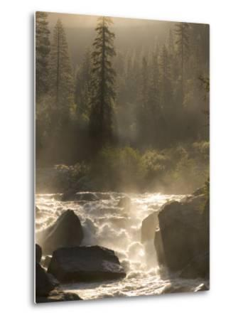 North Fork of the Stanislaus River Near Dorrington at 6,000 Feet-Phil Schermeister-Metal Print