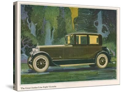 Jordan Line Eight Victoria Car, Magazine Advertisement, USA, 1925--Stretched Canvas Print