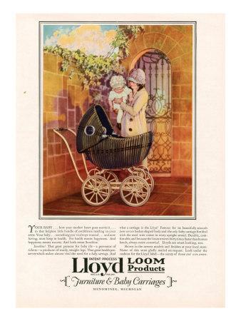 Lloyd Loom, Magazine Advertisement, USA, 1927--Framed Giclee Print