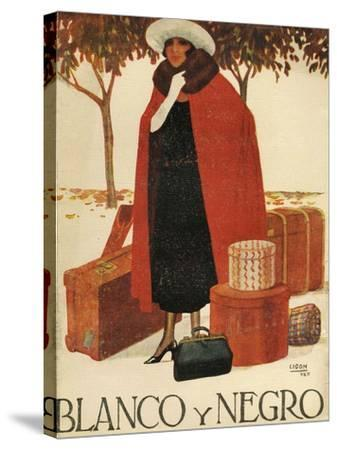 Blanco y Negro, Magazine Cover, Spain, 1920--Stretched Canvas Print