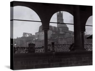 View of the Cathedral and the Bell Tower from an Open Gallery, Siena-Vincenzo Balocchi-Stretched Canvas Print