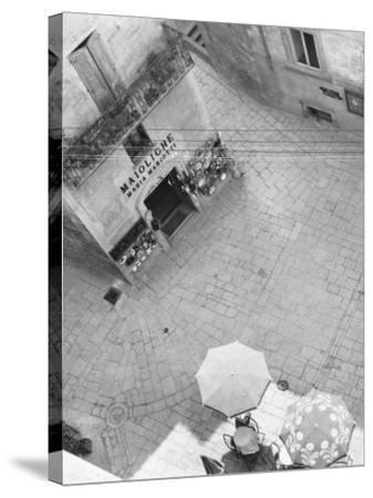 Square in San Marino-A^ Villani-Stretched Canvas Print