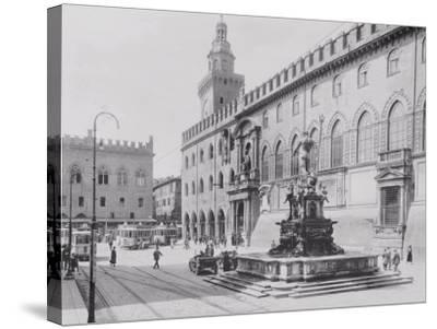 Fountain of Neptune or the Giant in Piazza Del Nettuno in Bologna-A^ Villani-Stretched Canvas Print