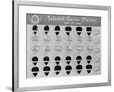Guitar Plectrums, Produced by the Casale Bauer Musical Instrument Company of Bologna-A^ Villani-Framed Giclee Print
