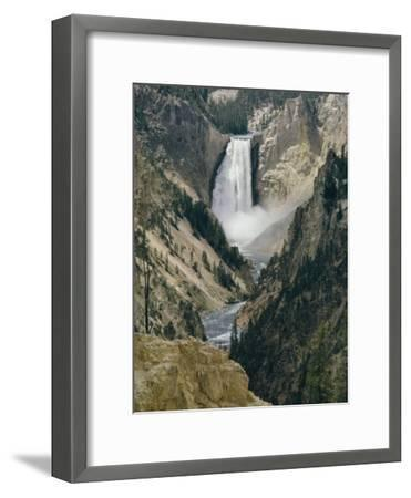 The Lower Falls of the Yellowstone River-David Boyer-Framed Photographic Print