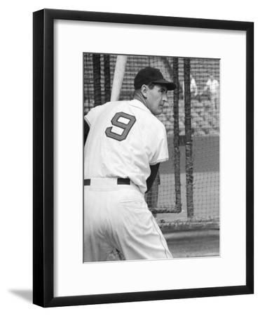 Ted Williams During Batting Practice-Ralph Morse-Framed Premium  Photographic Print 2c938a29c37