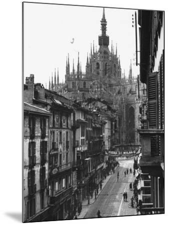 View of the Landscape of Milan with the Cathedral Dominating the Background-Carl Mydans-Mounted Photographic Print