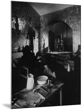 Interior of Picasso's Workshop at Notre-Dame-De-Vie-Gjon Mili-Mounted Photographic Print