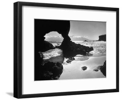 Natural Gateways Formed by the Sea in the Rocks on the Coastline-Eliot Elisofon-Framed Photographic Print