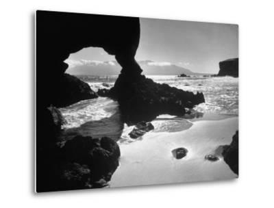 Natural Gateways Formed by the Sea in the Rocks on the Coastline-Eliot Elisofon-Metal Print