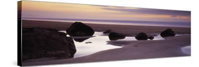 Rocks on the Beach, Sandymouth Bay, Bude, Cornwall, England--Stretched Canvas Print