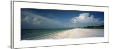 Clouds over the Beach, Lighthouse Beach, Sanibel Island, Fort Myers, Florida, USA--Framed Photographic Print