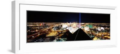 View of a City from Mandalay Bay Resort and Casino, Las Vegas, Clark County, Nevada, USA--Framed Photographic Print