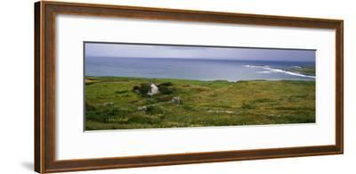 Coastal Landscape with White Stone House, Galway Bay, the Burren Region, Ireland--Framed Photographic Print