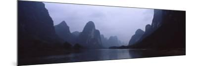 River Passing Through a Hill Range, Guilin Hills, Li River, Yangshuo, China--Mounted Photographic Print