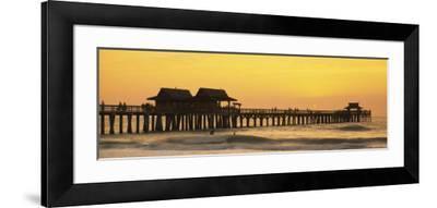 Stilt Houses on the Pier, Gulf of Mexico, Naples, Florida, USA--Framed Photographic Print
