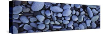 View of Pebbles, Sandymouth Beach, Cornwall, England--Stretched Canvas Print