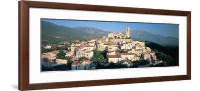 View of a Town, Goriano Sicoli, L'Aquila Province, Abruzzo, Italy--Framed Photographic Print
