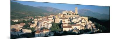 View of a Town, Goriano Sicoli, L'Aquila Province, Abruzzo, Italy--Mounted Photographic Print