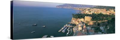 View of a Town at the Coast, Sorrento, Naples, Campania, Italy--Stretched Canvas Print