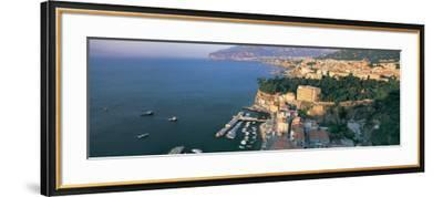 View of a Town at the Coast, Sorrento, Naples, Campania, Italy--Framed Photographic Print