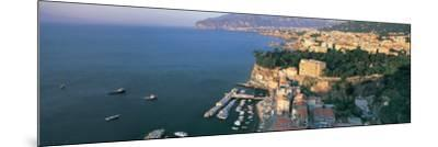 View of a Town at the Coast, Sorrento, Naples, Campania, Italy--Mounted Photographic Print