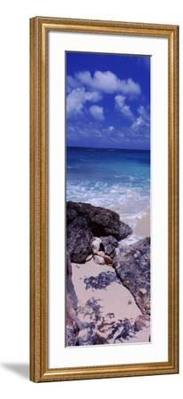 View of Rocks on the Beach, Island Harbour, Anguilla--Framed Photographic Print