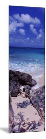 View of Rocks on the Beach, Island Harbour, Anguilla--Mounted Photographic Print