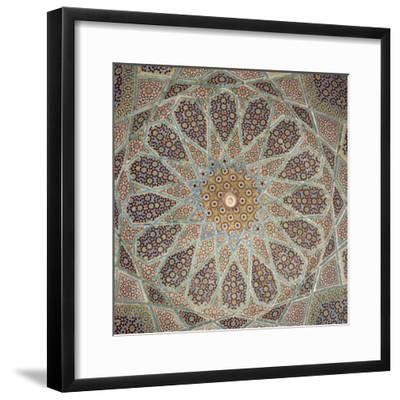 Detail of Interior of the Tomb of the Persian Poet Hafiz, Shiraz, Iran, Middle East-Robert Harding-Framed Photographic Print